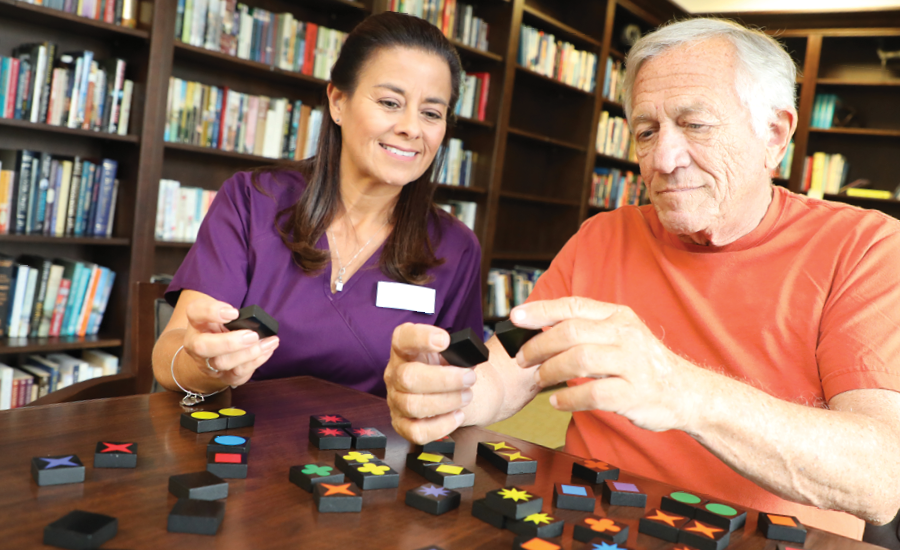 a memory care cna works with memory care resident