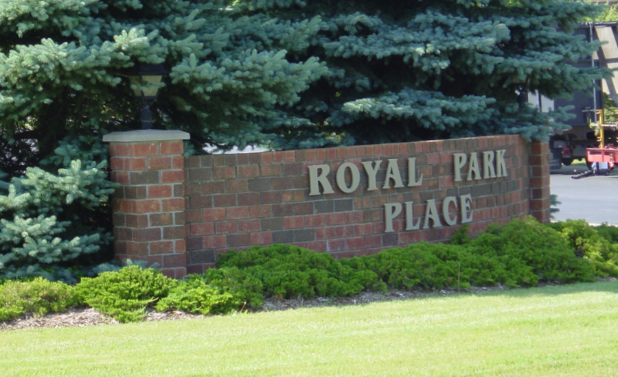 exterior of royal park place in the 1990s