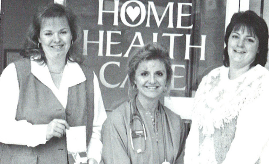 three women pose at founding of providence at home home health care