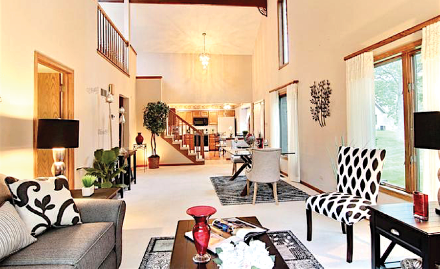 interior of furnished village woods townhome