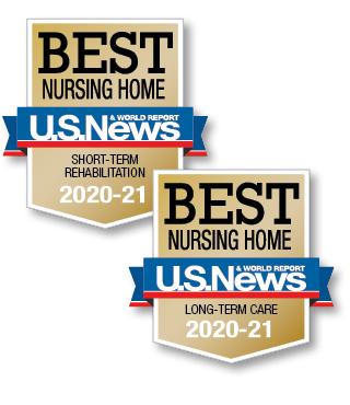 U.S. News and World Report Best Nursing Home logo