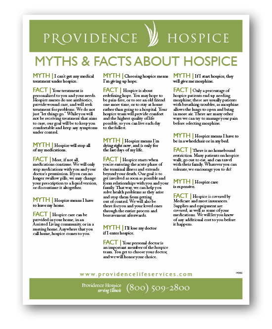 hospice myths and facts sheet