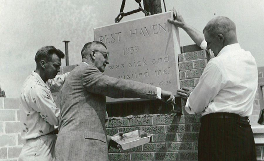 providence founders raise the sign for the first rest haven community