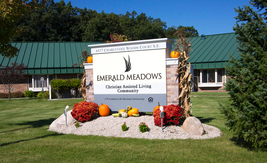 exterior of emerald meadows building in 2001