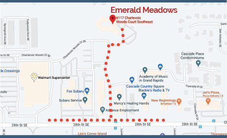 Map to Emerald Meadows